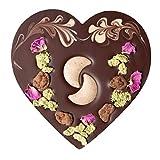 Bio Schoko-Herz mit Haselnusskrokant | vegan | aus der zotter Schokoladen Manufaktur | 100g