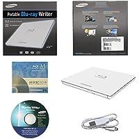 Samsung Ultra Slim dettaglio esterno 3D Blu Ray Writer BDXL DVD CD Burner scatola al minuto-White con 3PK GRATIS Mdisc BD + Software + Cavo