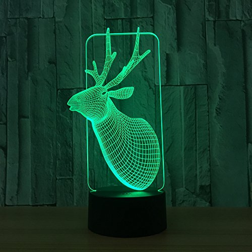 / 3d Illusion Lampe / 7 Farbe/jungen Geschenke/home Schlafzimmer Party Supply Dekoration/Urlaub/Weihnachten Deer ()