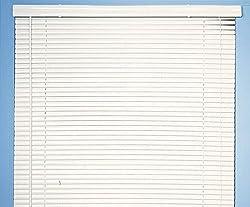 NEW 1 WHITE VINYL MINI BLIND - 31 WIDE X 72 LONG