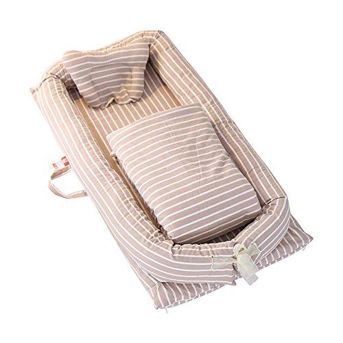 Neugeborene Baby Schlafplatz (0–24Monate) Wiege CO-Sleeping Pod–Hohe Elastizität Pearl Baumwolle/Super Weich/atmungsaktiv/tragbar/Abnehmbare