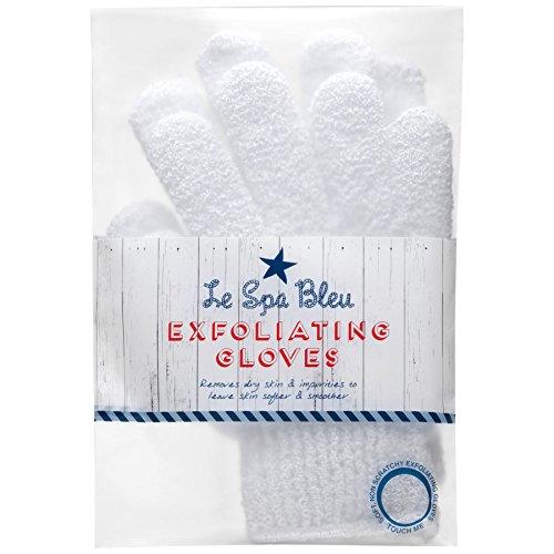Le Spa Bleu Gants Exfoliants Blanc (Lot de 2)