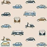 Autojersey-Stoff - VW's Minis - Loopback Jersey Sweat Stoff