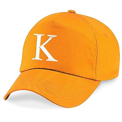 New Casquette de Baseball Cap BRODÉ Letter A z Garçon Fille Enfants Chapeau Bonnet Unisexe Orange 4sold K