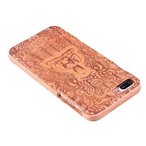 Hülle für iPhone 7 plus , Schutzhülle Für iPhone 7 Plus Trennbare Schnitzen Octopus Pattern Kirsche Holz Schutzmaßnahmen zurück Fall Deckung ,hülle für iPhone 7 plus , case for iphone 7 plus ( SKU : I Ip7p1449d