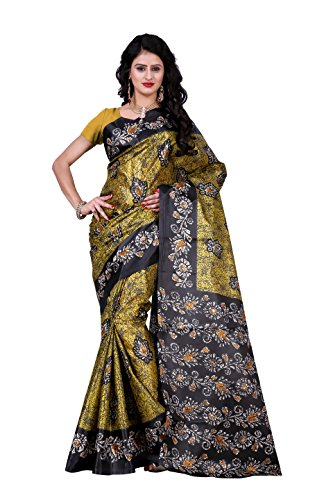 Trendz Raw Silk Multi Color Saree Without Blouse(TZ_36)  available at amazon for Rs.199
