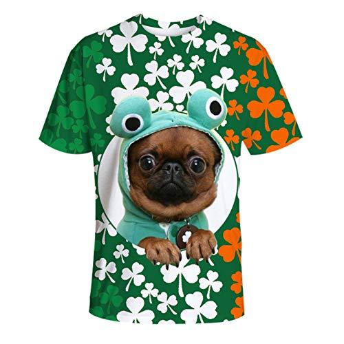 ChYoung St. Patrick's Day T-Shirts Männer Frauen Grün Kostüme Plus Size Lustige Kleidung Männer Frauen ()