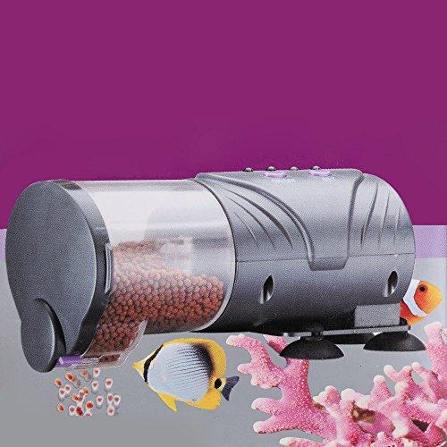Futterautomat für Aquarium, funktioniert automatisch / manuell, digital, mit Timer und Saugnapf-Halterung