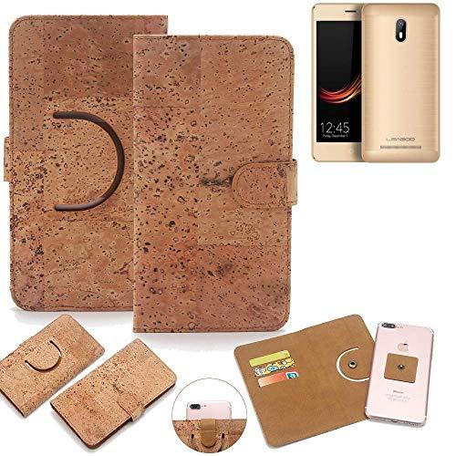 K-S-Trade Schutz Hülle für Leagoo Z6 Handyhülle Kork Handy Tasche Korkhülle Schutzhülle Handytasche Wallet Case Walletcase Flip Cover Smartphone