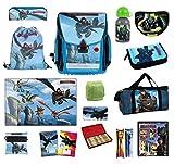 Familando Dragons Schulranzen-Set 24tlg. Federmappe, Sporttasche, Schreibtischauflage, Regenschutz
