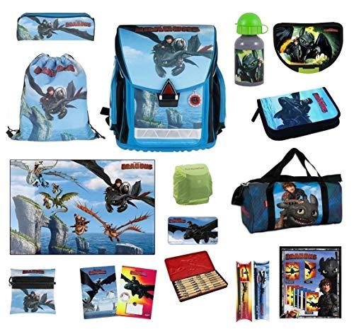 Dragons Schulranzen Set 20-tlg. Federmappe, Schultüte, Regen-/Sicherheitshülle NEU