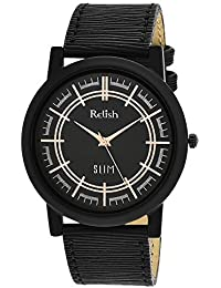 RELISH RE-S802BB SLIM Black Dial Analog Watch For Mens & Boys