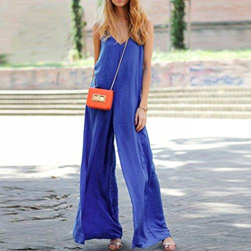 Pantalon, FEITONG Aux femmes Sexy Sans manches Bandage Combinaison Barboteuse Bleu