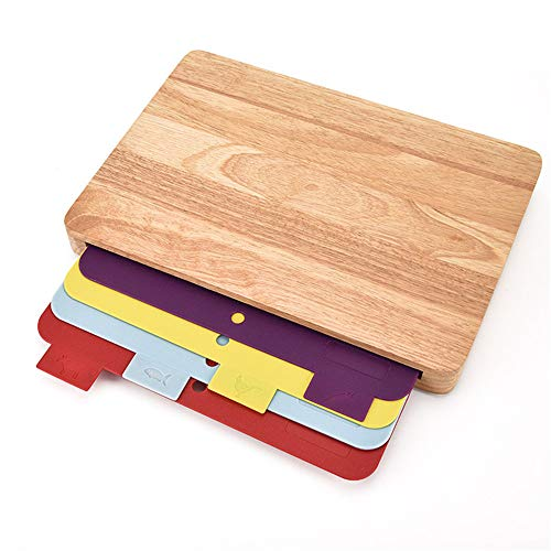 LARRY SHELL Käsebrett Kitchen Cutting Boards Chopping Board für Meat Dishwasher-Safe Cheese Gemüsestik Organic Antimikrobielle Heavy Duty Butcher Block mit Non-Slip-Feet Heavy-duty Cutting Board