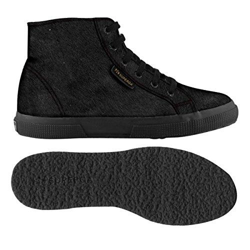 Superga 2095-Plus Leahorsew, Chaussures de Gymnastique Femme TOTAL BLACK
