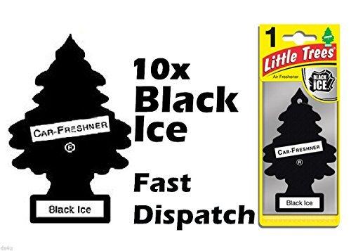 LITTLE TREE MAGIC TREE Duftbaum Lufterfrischer fürs Auto Schwarz Eis - 10 Stück Packung