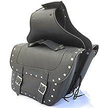 Alforjas doble cuero rígido - sin necesidad de soportes , se colocan debajo del asiento. Modelo kr-ab16. Color negro. Talla M.