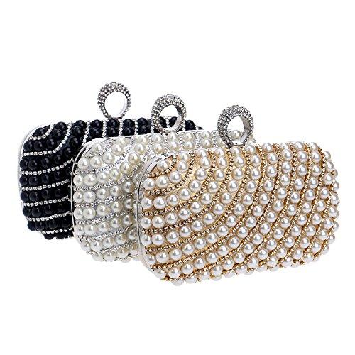 BF Einheitsgröße weiß goldfarben Clutch Handbag Mehrfarbig Damen wvwZfq0