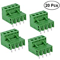 ukcoco Anschluss PCB anschließbar A Steckklemmen für Montage auf-Board PCB Klemme 5.08mm 4Pin-Anschluss a Nadel gerade mit Anschluss 2EDG