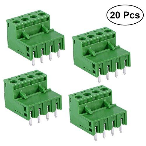 UKCOCO PCB Mount Screw Klemmenblock Pluggable PCB Terminal Connector 5.08MM 4 Pins Gerader Nadel Looper 2EDG Socket PCB Connector -