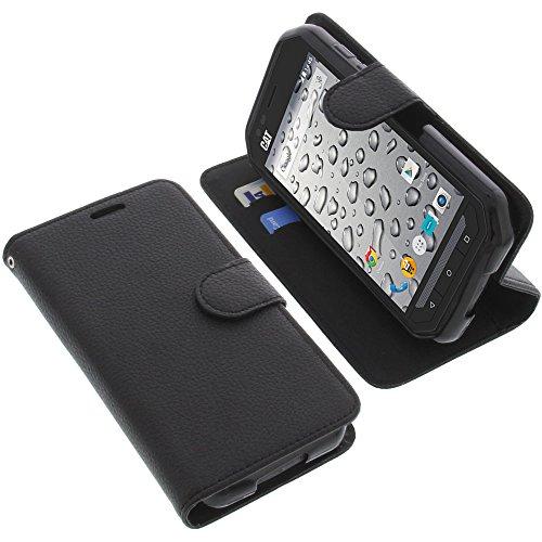 foto-kontor Tasche für CAT S30 Book Style schwarz Schutz Hülle Buch