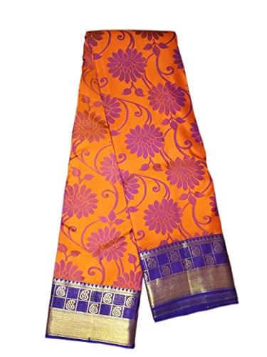 Pure Pattu Saree ,Orange Color Hand Woven Saree (Pure pattu, High quality...