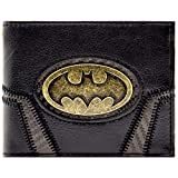 DC Batman Goldabzeichen Anzug Schwarz Portemonnaie Geldbörse