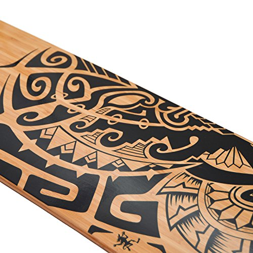 Apollo Longboard Tuvalu Special Edition Komplettboard mit High Speed ABEC Kugellagern inkl. Skate T-Tool, Drop Through Freeride Skaten Cruiser Boards -