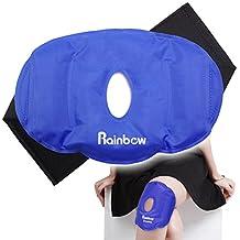 """Paquete de hielo transpirable diseño de rodilla con Velcro ajustable Wrap, luz azul (9.6""""x 6,5"""")"""