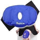 Ginocchio Ice Pack traspirante design con chiusura regolabile in velcro Wrap, azzurro (24,4x 16,5cm) immagine
