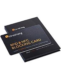 Bloqueador RFID Tarjeta, 1 Protector Tarjetas Crédito Mantiene Seguro su Todo Billetera, el Más Efectivo Anti-Robos Contactless Protección Blocker, NFC Bloque para Débito Banco Pasaporte Tarjeta