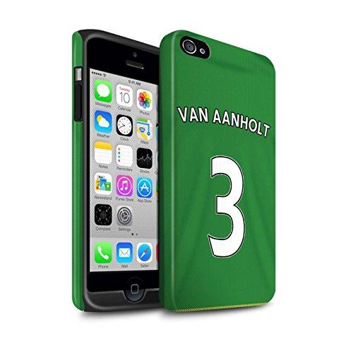 Offiziell Sunderland AFC Hülle / Matte Harten Stoßfest Case für Apple iPhone 4/4S / Pack 24pcs Muster / SAFC Trikot Away 15/16 Kollektion Van Aanholt