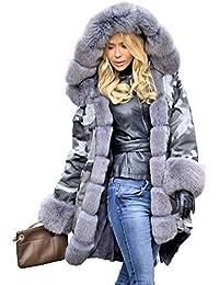 roiii nuevas mujeres señoras capucha Parka chaqueta acolchada invierno abrigos Fishtail tamaño ...