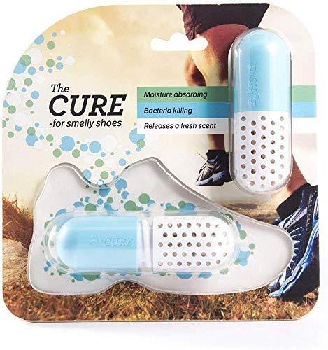Schuh Deo - Geruchsneutralisierer - Antibakteriell - Trockenmittel - Geruchsentferner - Deodorant für Schuhe Schrank Sporttasche Koffer - Farbe Blau
