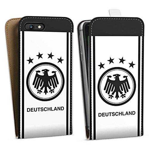 Apple iPhone X Silikon Hülle Case Schutzhülle Deutschland EM Trikot Fußball Europameisterschaft Downflip Tasche weiß