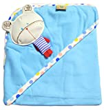 #8: BornBabyKids Interlock Hooded Wrapper / Swaddle Cloth for Babies (Multicolor)