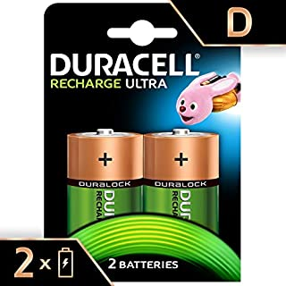 Duracell Recharge Ultra Type D Batteries 3000 mAh, Pack of 2 (B0002FQWQY) | Amazon price tracker / tracking, Amazon price history charts, Amazon price watches, Amazon price drop alerts