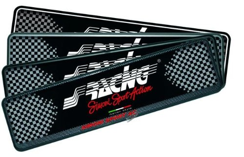 Preisvergleich Produktbild Simoni Racing PTX/4AN Kennzeichenhalter vorne Soft Touch, schwarz