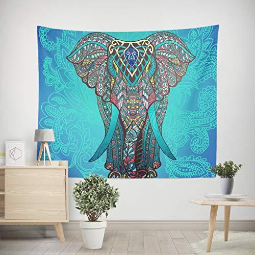 LNLZPinturas Decorativas, Estilo étnico, tapices Coloridos de Elefantes, decoración de Telas para...