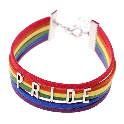 Ishow-LGBT-Rainbow-Multicolor-Pride-Kunstleder-Seil-Woven-Hot-Jewelry-Lesbian-Gay-Strand-Armband-fr-Mnner-Frauen