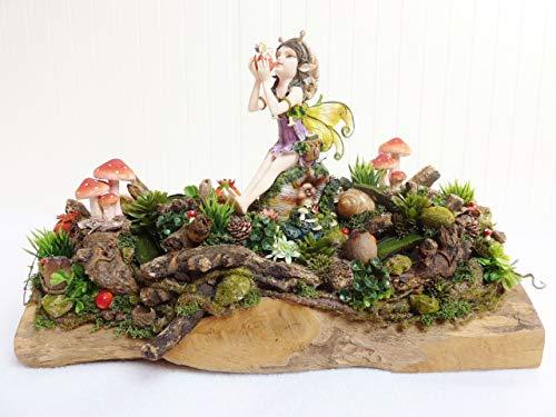 Deko Herbst Herbstdeko SCHNECKCHEN Tischdeko Wohndeko Gesteck Natur Elfe Wald Landhaus Luxus
