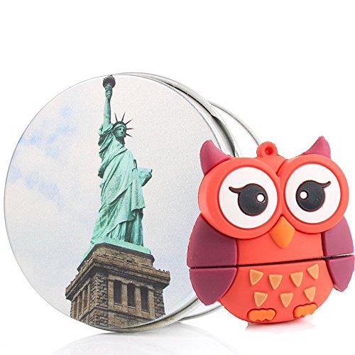 CHIAVETTA USB Anvor® 3D Gufo Pappagallo USB Chiavette Memoria Flash Drive Memory Stick Pen Drive- 64GB Statue Of Liberty - Roses Statua