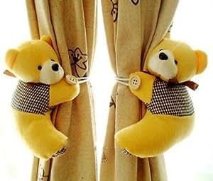 1 paire embrasse, fenêtre crochet de rideau, la litière ours rideau boucle, (couleur randonly)