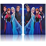 iPad 2,3,4 Cuero / PU de Cuero Elegante Disney de Dibujos Animados Frozen el Reino de la Cubierta de Hielo Para Todos los modelos De Tamaño Completo del iPad / iCHOOSE / Elsa, Anna, Hans & Kristoff