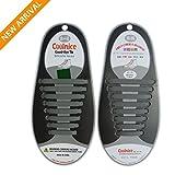 Lacci Scarpe Elastici, Elastico Silicone Scarpe||No Tie Lacci für Trainer, Sportschuhe Sneakers Schuhe Running Schuhe Board Schuhe Stiefel Schuhe und Casual Schuhe von NWSS (grigio)