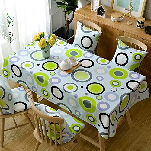 Cfwl tovaglia di lino in cotone moderno e minimalista tessuto stampato tovaglia di cotone e lino verde 110 * 110 cm tovaglia antimacchia no stiro quadrata