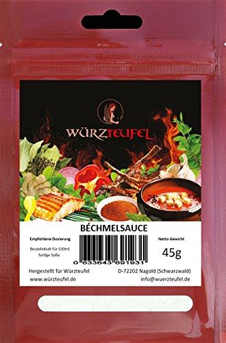 Bechamelsoße, Béchamel - Sauce in Restaurantqualität. Vegan. Frei von Geschmacksverstärkern. Kalorienreduziert. 2 Beutel je 45g (ca. 35 Portionen)