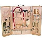 Kinder Werkzeug Laubsäge Werkzeugkasten Holz Werkzeugkoffer 25tlg Laubsägekoffer