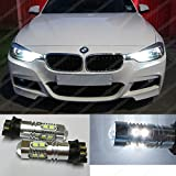 PW24W 10SMD White Canbus Daytime Running Lights LED Bulbs Resistors DRL F30 F31 Xenon EA2R2