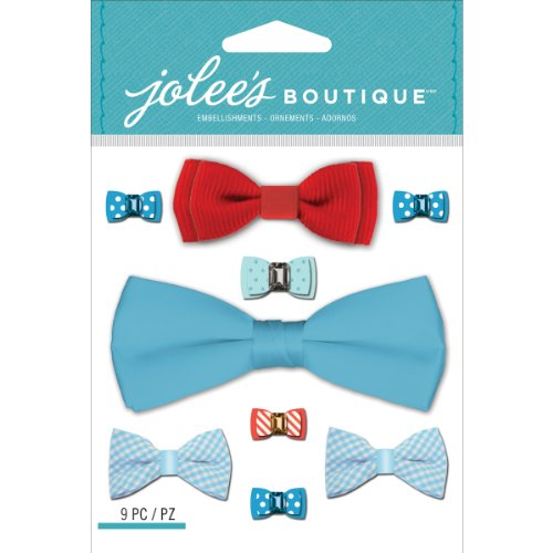 Jolee's Boutique Dimensional Stickers-Baby Boy Bow Ties Baby Boy Bow Tie
